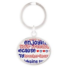 brother in law Oval Keychain