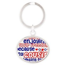 cousin Oval Keychain