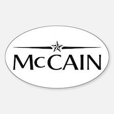 JOHN MCCAIN PRESIDENT 2008 Oval Decal