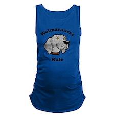 Weimaraners-Rule Maternity Tank Top