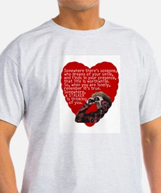 Stalker Anti-Valentine Ash Grey T-Shirt