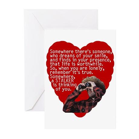 Stalker Anti-Valentine Greeting Cards (Package of