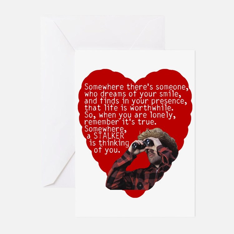 Stalker Anti-Valentine Greeting Cards (Package of