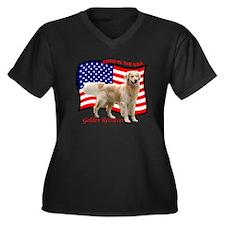 4thJulyMerge Women's Plus Size Dark V-Neck T-Shirt