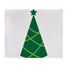 Simple greenie Christmas tree Throw Blanket