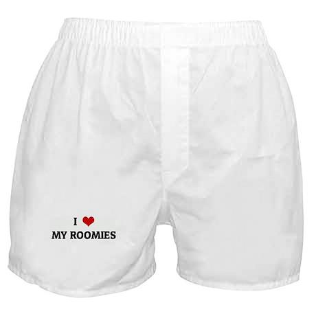 I Love MY ROOMIES Boxer Shorts