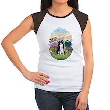 Cloud Angel - Border Co Women's Cap Sleeve T-Shirt
