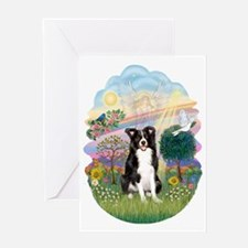 Cloud Angel - Border Collie Greeting Card