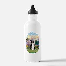 Cloud Angel - Border C Water Bottle