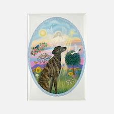Cloud Angel - Brindle Greyhound Rectangle Magnet