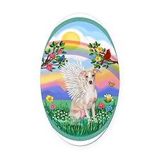 Rainbow Life - Italian Greyhound ( Oval Car Magnet