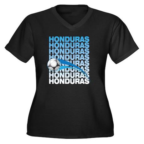 A_hon_1 Women's Plus Size Dark V-Neck T-Shirt