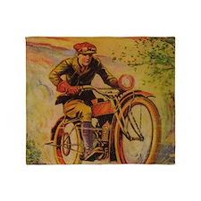 Tom Swift Motorcycle Throw Blanket