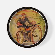 Tom Swift Motorcycle Wall Clock