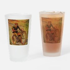 Tom Swift Motorcycle Drinking Glass
