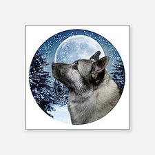 "Norwegian Elkhound Square Sticker 3"" x 3"""