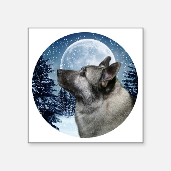 "Norwegian Elkhound Square Sticker 3"" x 3"""