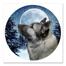 "Norwegian Elkhound Square Car Magnet 3"" x 3"""