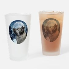 Norwegian Elkhound Drinking Glass