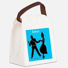 iDance_BlueBG_SquareTile Canvas Lunch Bag