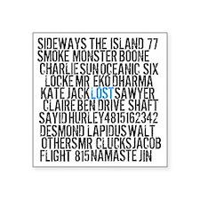 """Lost Names Square Sticker 3"""" x 3"""""""