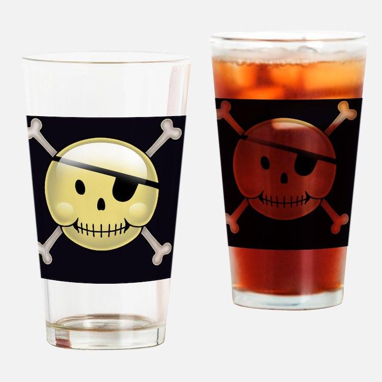 happyface-pir-CRDh Drinking Glass