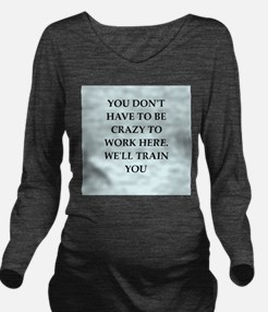 WORK2.png Long Sleeve Maternity T-Shirt