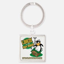 LHS Logo 1-Sided Square Keychain