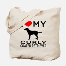 I Love My Curly-Coated Retriever Tote Bag