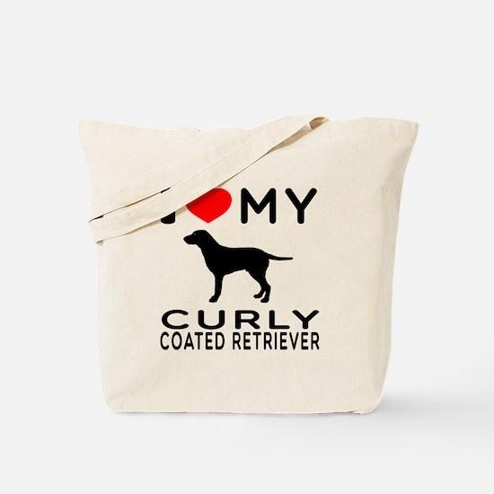 I Love My Curly-Coated Retriever Tote Bag