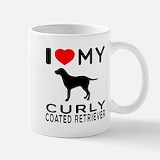 I Love My Curly-Coated Retriever Mug