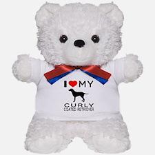 I Love My Curly-Coated Retriever Teddy Bear