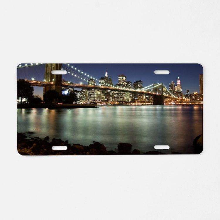 Brooklyn Bridge Aluminum License Plate
