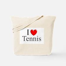 """""""I Love (Heart) Tennis"""" Tote Bag"""