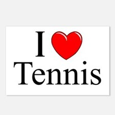 """I Love (Heart) Tennis"" Postcards (Package of 8)"