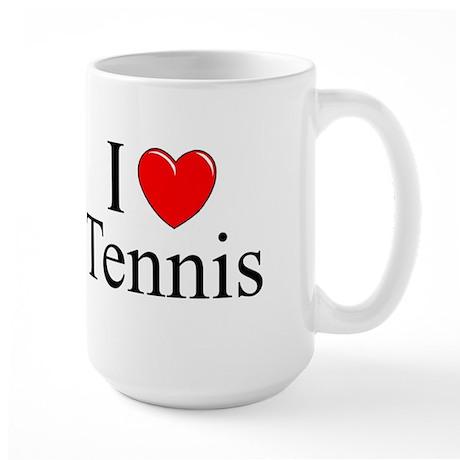 """I Love (Heart) Tennis"" Large Mug"