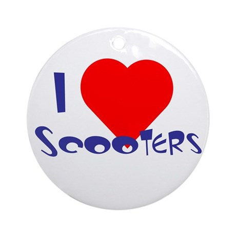 I Heart Scooters Ornament (Round)