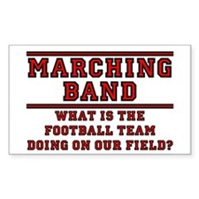 Football Team on Our Field Sticker (Rect.)