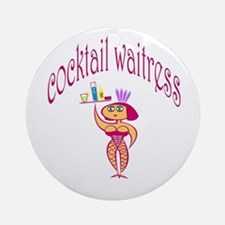 Cocktail Waitress Ornament (Round)