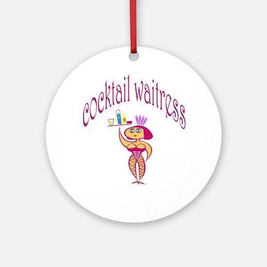 Cocktail Waitress Ornament (Round)