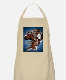 Paint Horse and Feathers PosterP Apron
