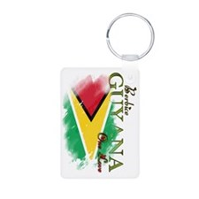 guyana one love Keychains