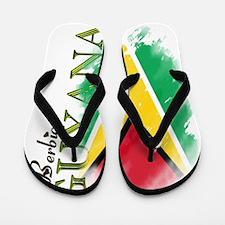 guyana one love Flip Flops