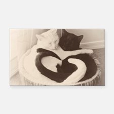 Love in Black and White (vint Rectangle Car Magnet