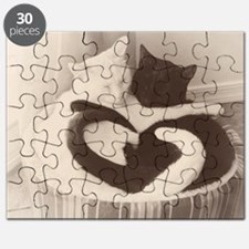 Love in Black and White (vintage) Puzzle
