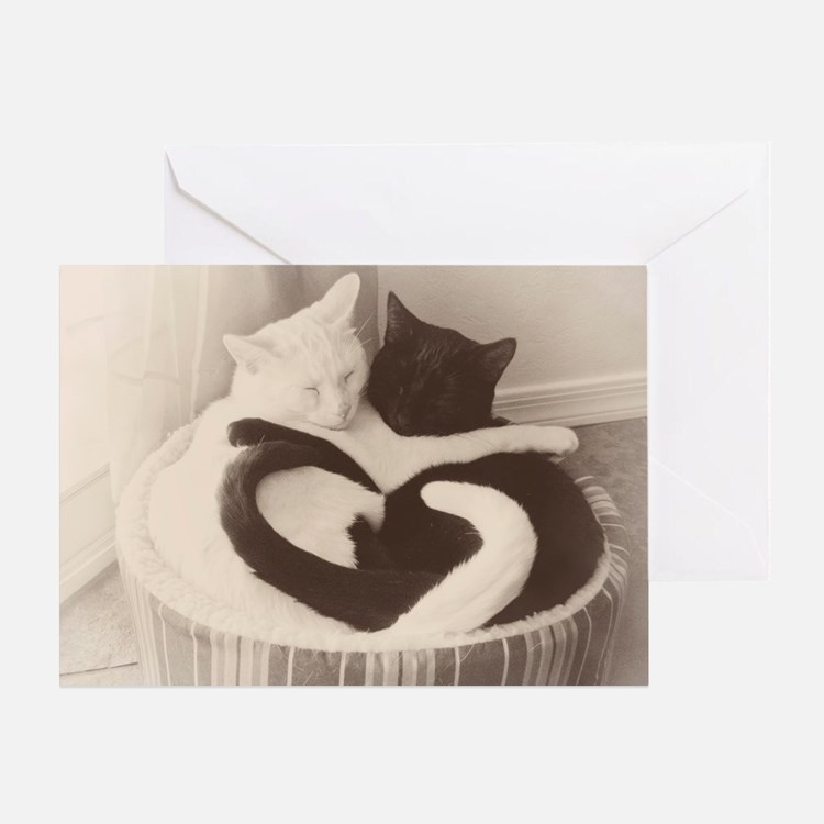 Love in Black and White (vintage) Greeting Card