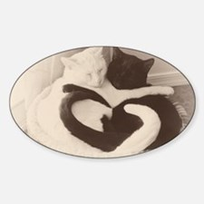 Love in Black and White (vintage) Decal