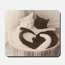 Love in Black and White (vintage) Mousepad
