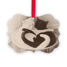 Love in Black and White (vintage) Ornament