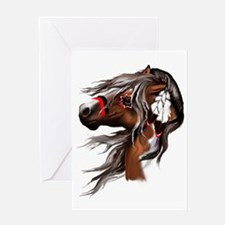 Paint Horse and Feathers Trans3000 Greeting Card